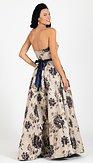 Plesové šaty Vanilka, modrá varianta