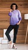 POSHstyle - Mikinové šaty Ametyst, fialové
