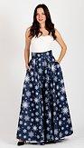 Maxi sukně Sněhová vločka, modrá