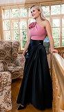 Černá Sissi sukně na ples