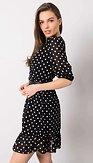 Puntíkaté retro šaty Amanita, černé