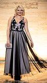 Plesové šaty Závan půlnoci, černé
