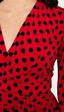 Šaty Knoflík, červené s puntíky