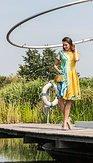 Šaty Citrusia, žluté
