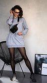 POSHstyle - Mikinové šaty Maddison, šedé