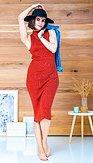 POSHstyle - Úpletové šaty Aurora, skořicové