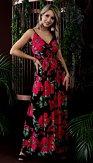 Maxi šaty Královna růží, černé
