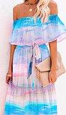 Maxi šaty Kouzelná víla, barevné