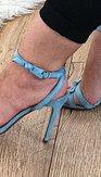 Páskové lodičky Pia, modré
