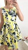 Šaty Květinová záhada, žluté