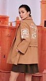 Kabát Poštovní známka, okrový