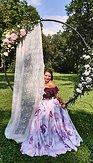 Maxi sukně Růže v jinovatce