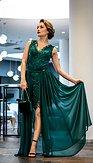 Exkluzivní společenské šaty 2v1 Beatrix, zelené