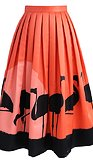 Midi sukně Flame-Ingo, oranžová