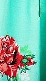 LindyBop retro sukně Adalene, mintová s květy