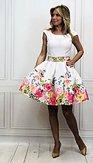 Šaty Ráj květů, bílé